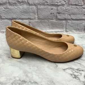Tory Burch Kent Patent Quilted Pump